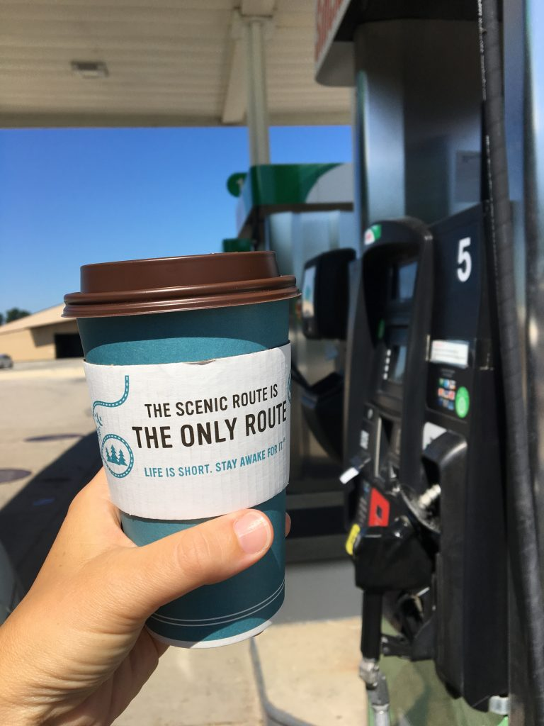 Gas station coffee