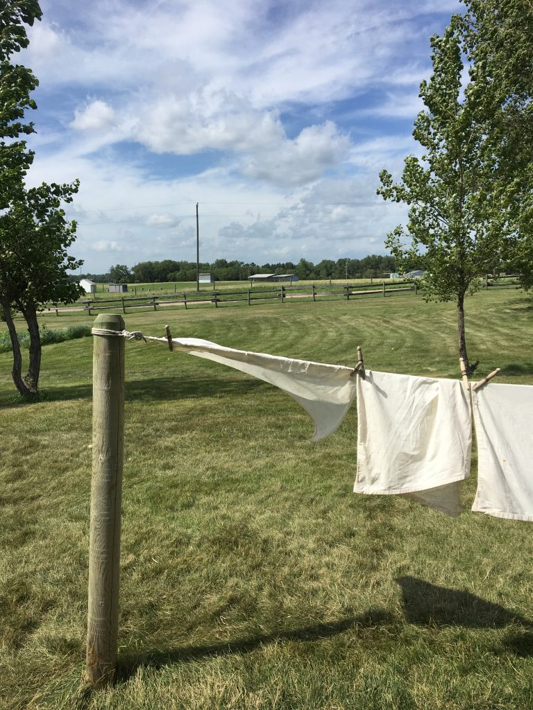 Line of laundry at Ingalls Homestead, De Set, SD