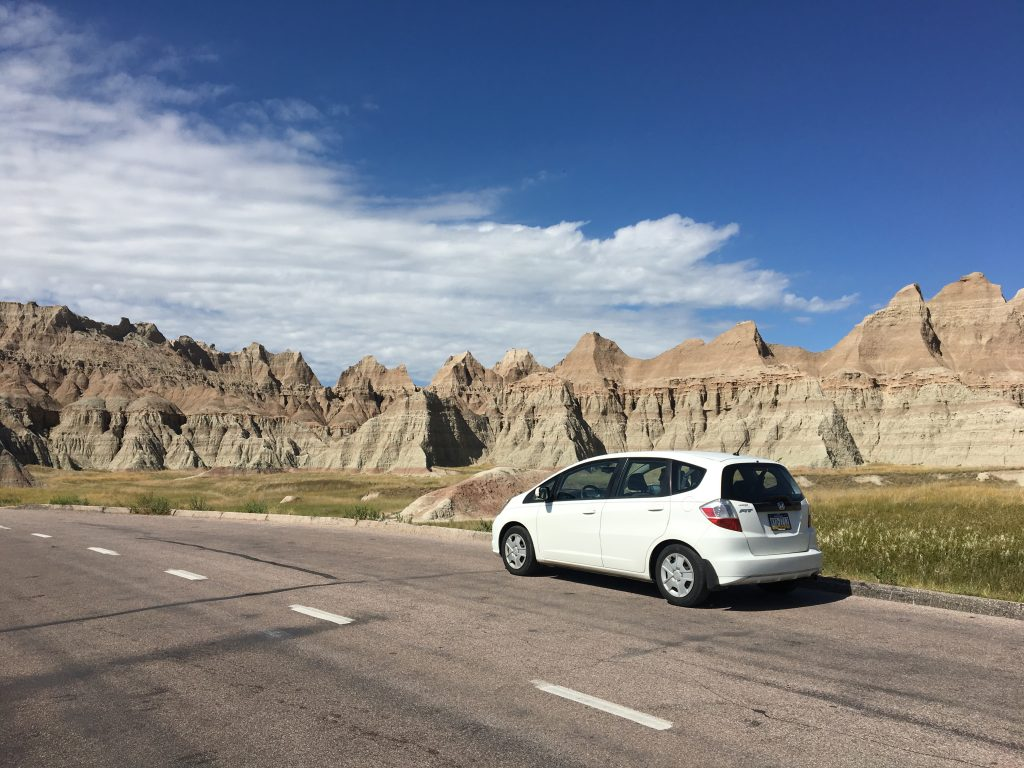 My car in the Badlands, SD