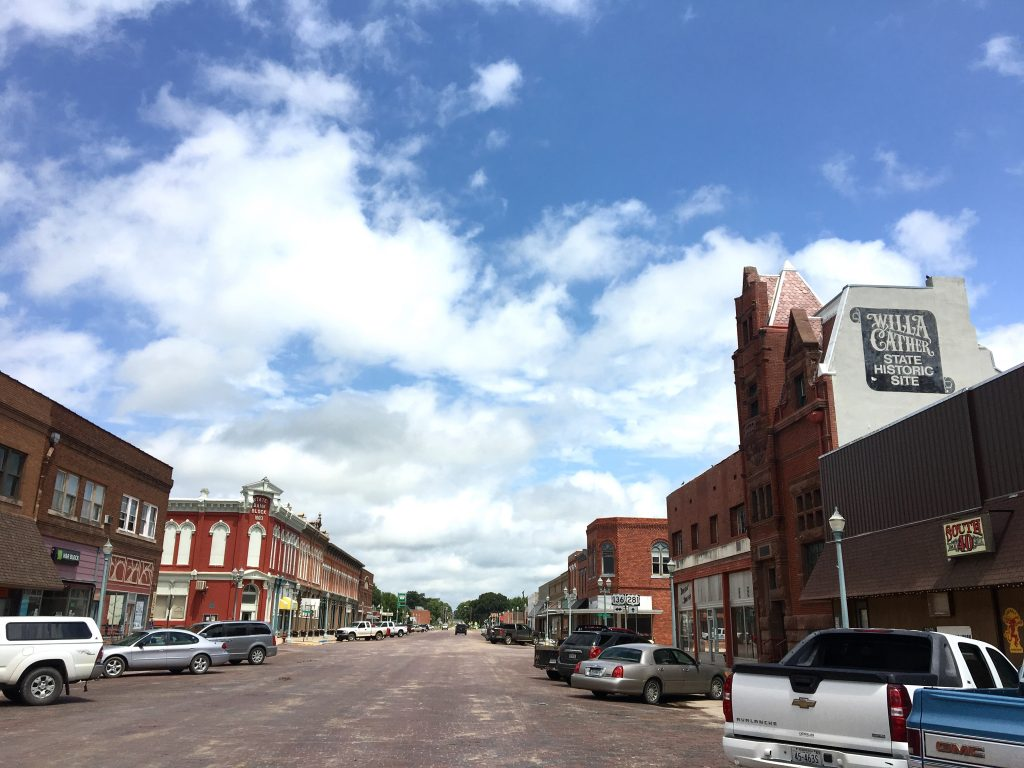 Main Street in Red Cloud, Nebraska