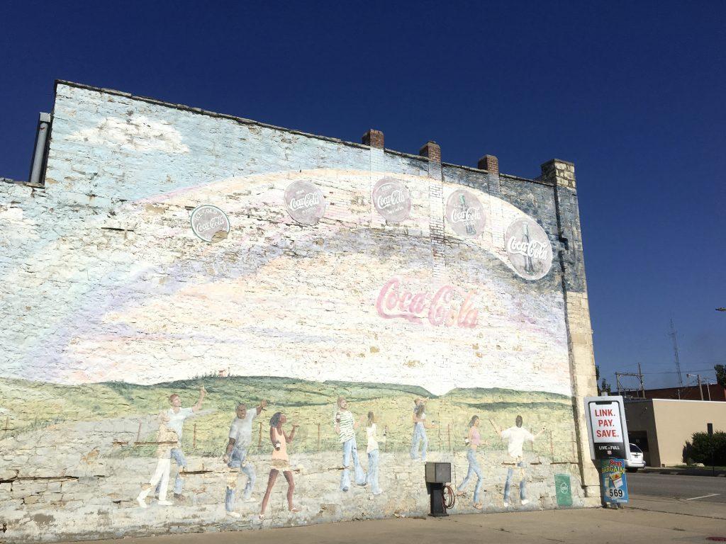 Mural in a town in Nebraska