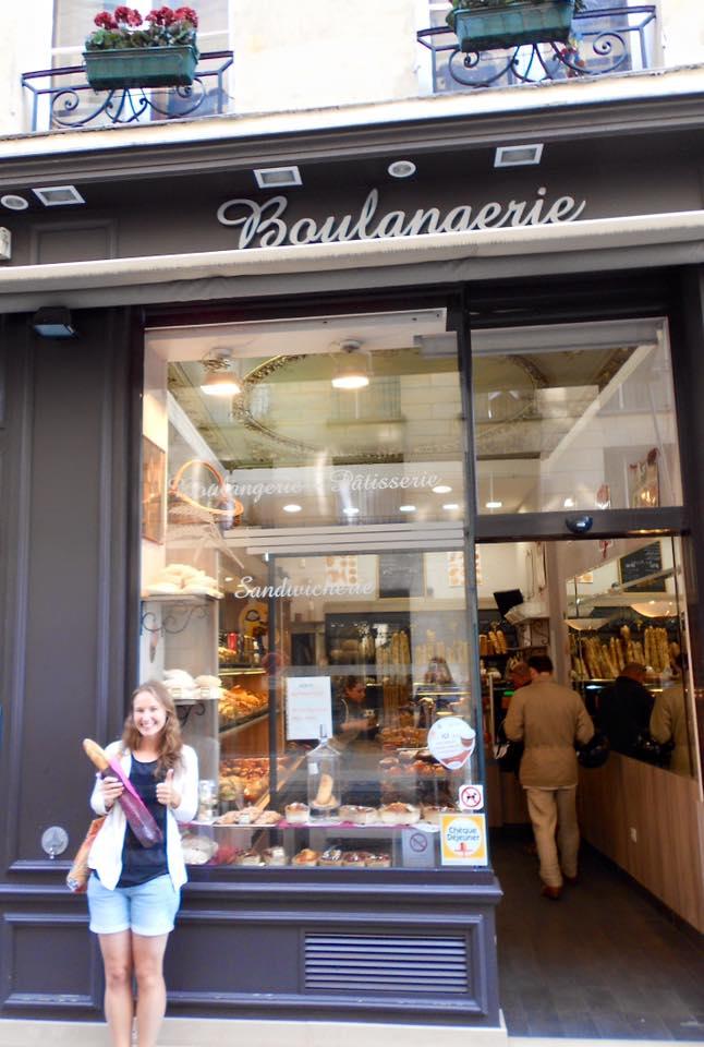 buying a baguette in Paris