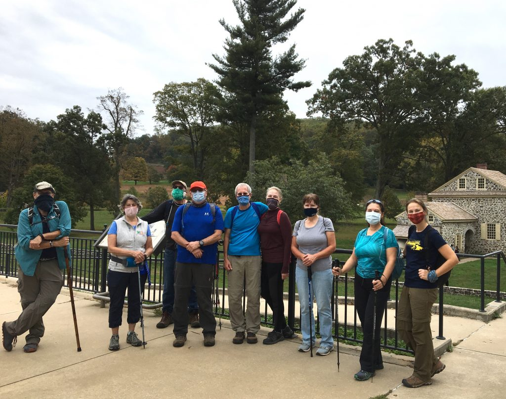 American Pilgrims on the Camino Philadelphia Chapter, Valley Forge National Park, October 2020