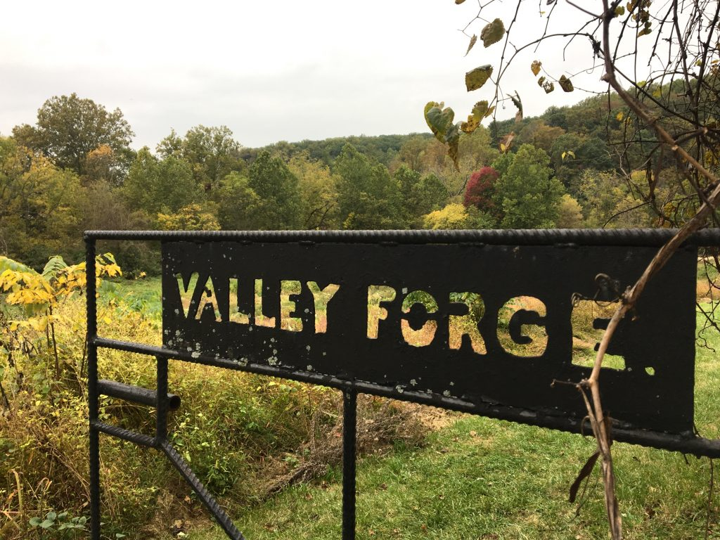 Sign at Valley Forge National Park
