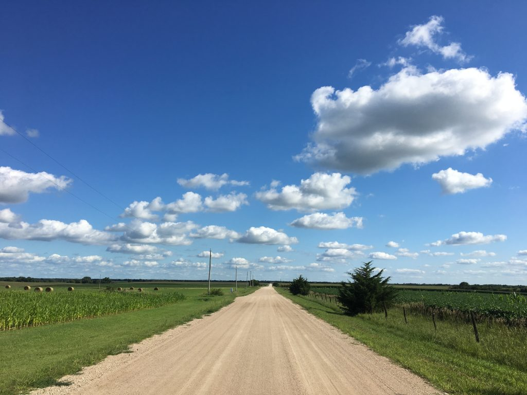 Dirt road in Kansas