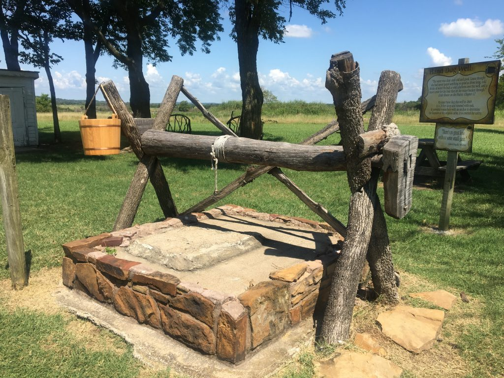 Pa's hand-dug well from Little House on the Prairie, Independence, Kansas