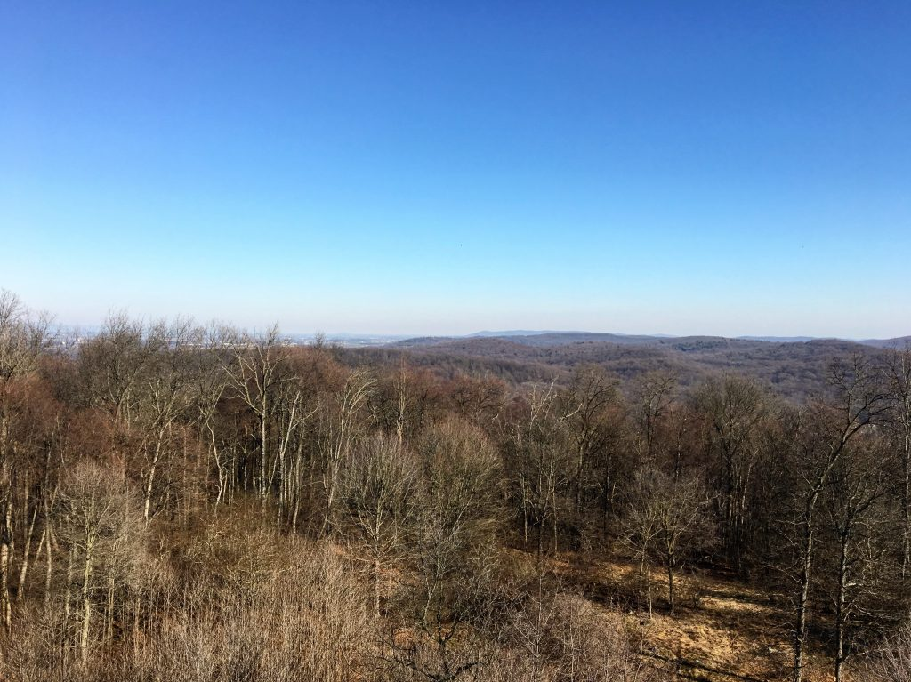 View from observation tower at Mt. Gretna, Lebanon County, PA