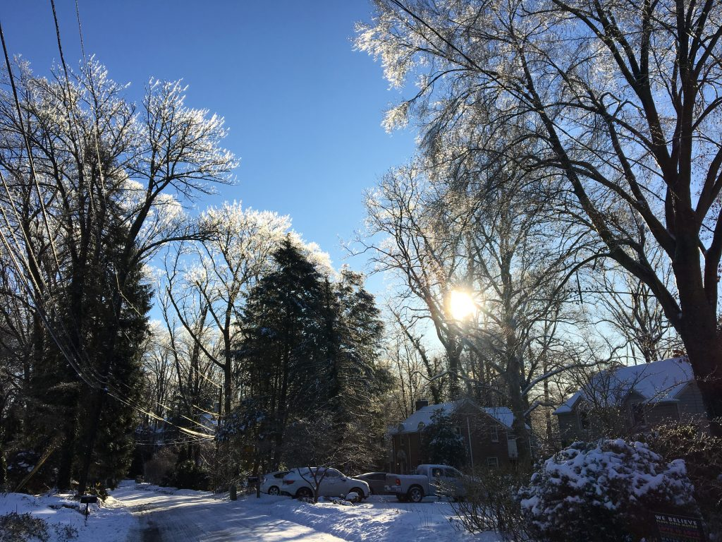December snow in the northeast
