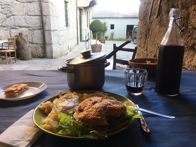 Dinner at Albergue A Pocina de Muniz, Camino Primitivo