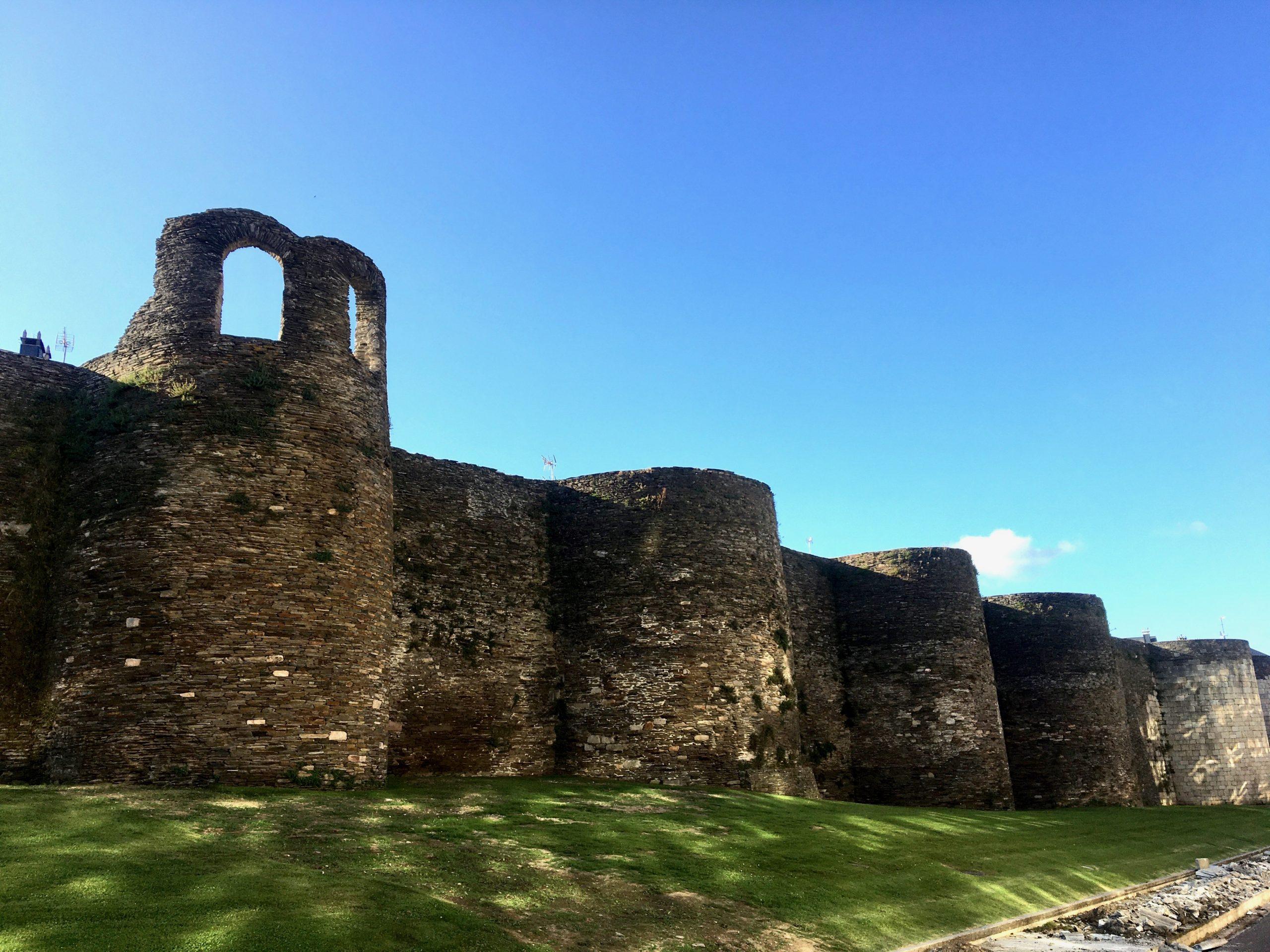 View of Roman city walls, Lugo, Spain, Camino Primitivo