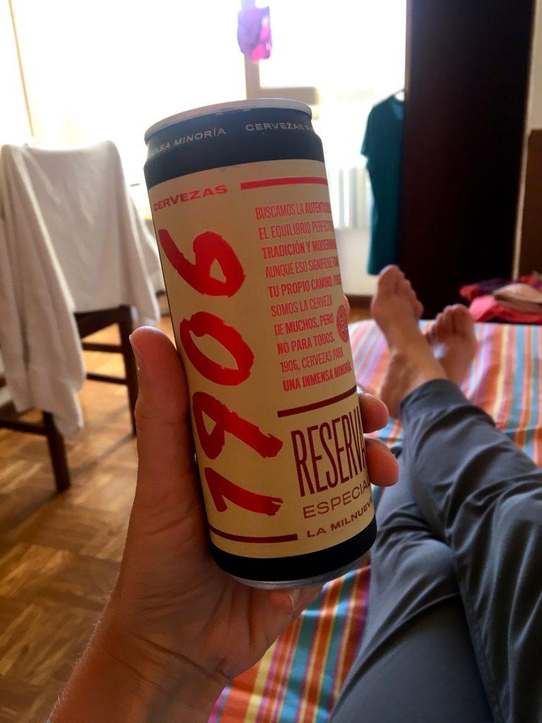 Hotel beer in Lugo, Spain, Camino Primitivo