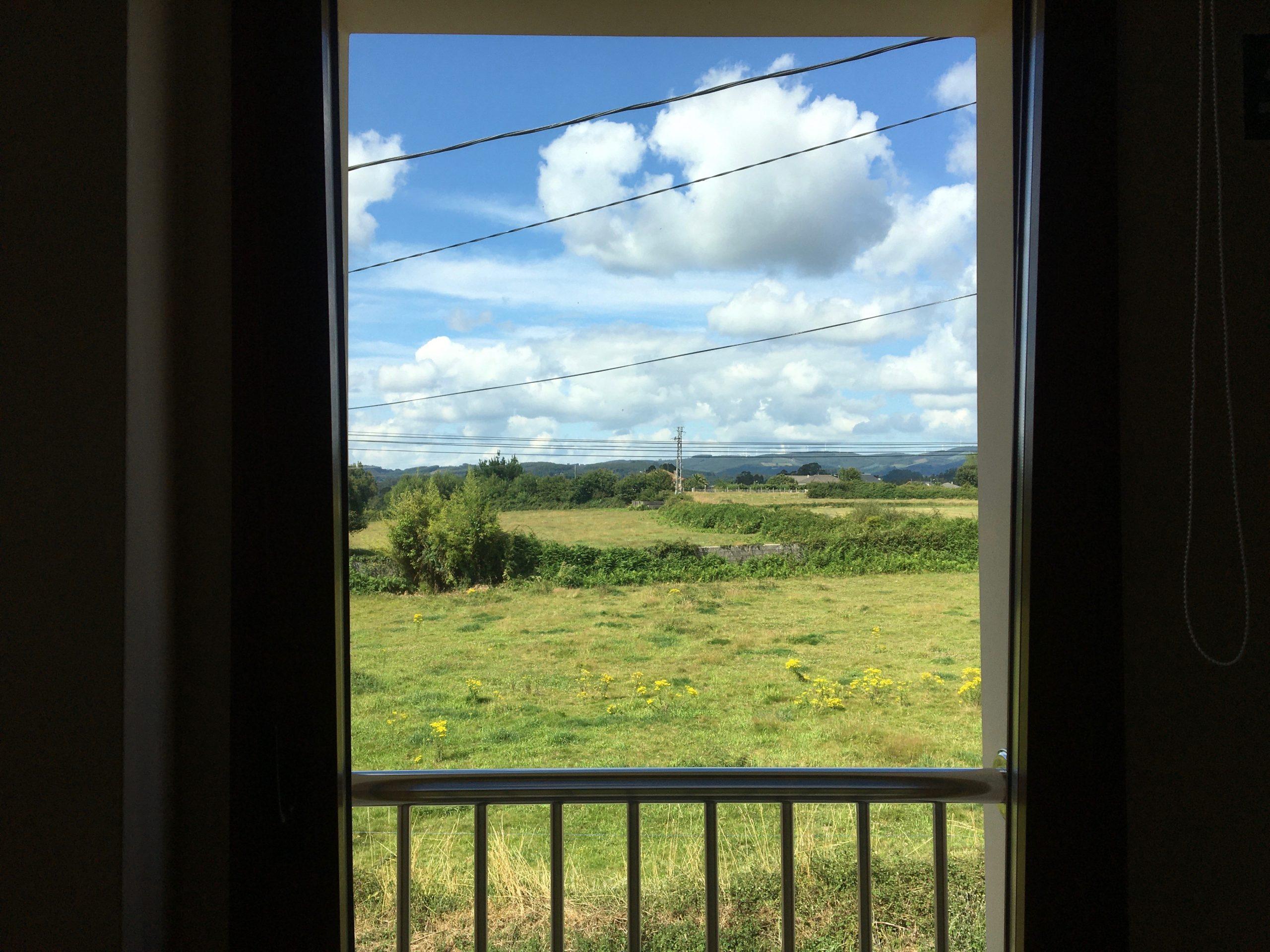 Albergue window view, Day 9 on the Camino Primitivo