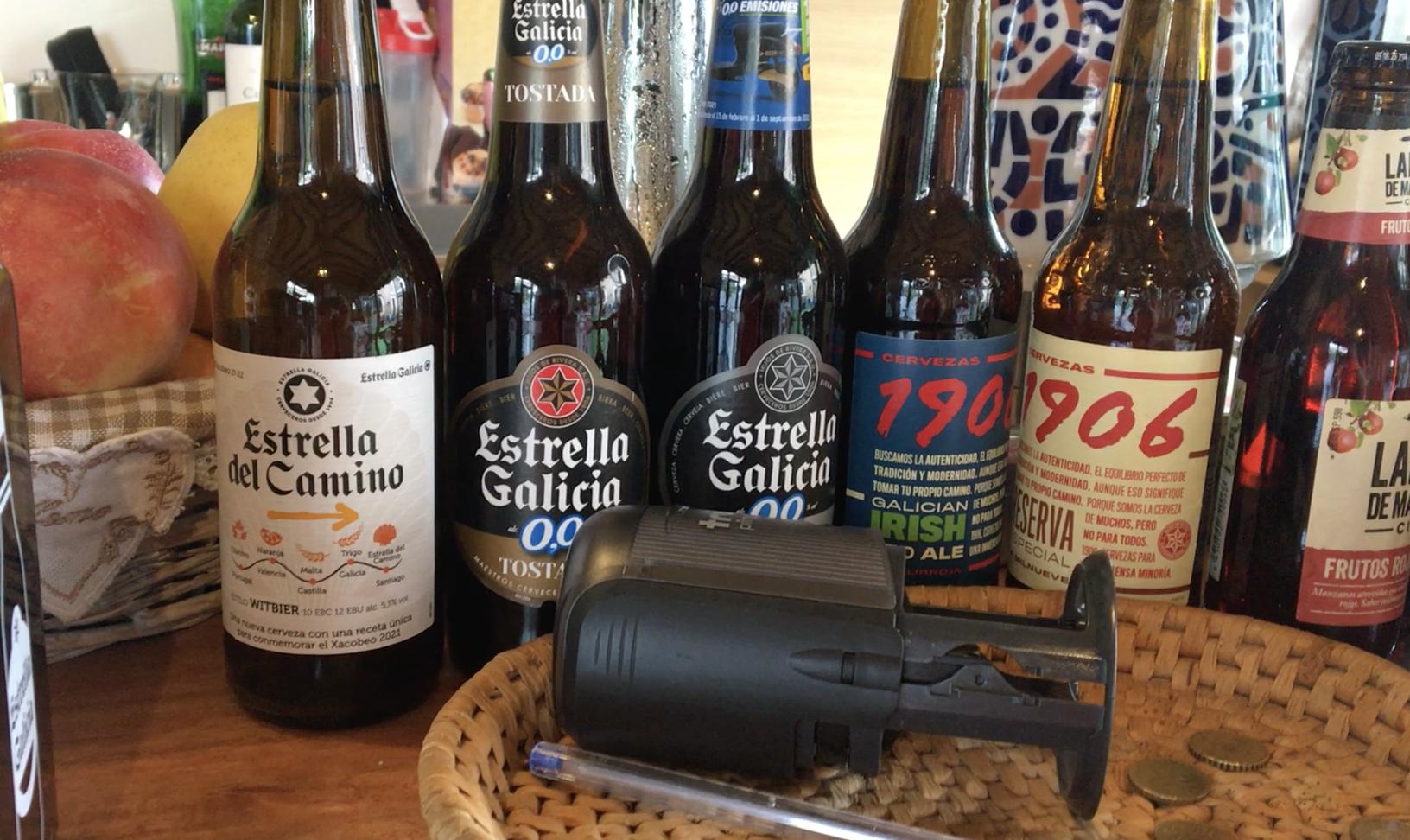 Beer bottles on the Camino de Santiago
